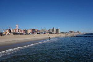 Het strand bij New York